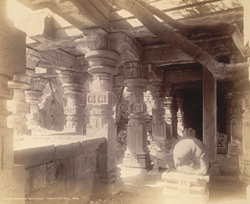 Interior of mandapa of ruined Maheshvara Temple, Patan, Chalisgaon District